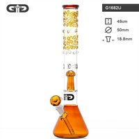 "Grace Glass ""Umber Pattern Beaker"" Bong"