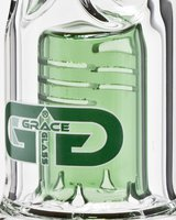 "Grace Glass ""Green Double Drum"" Bong"