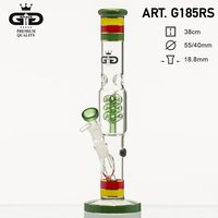 Grace Glass Rasta Cane Bong