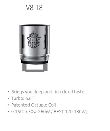 Испаритель SMOK TFV8 V8-T8 Head/Patented Octuple Coils
